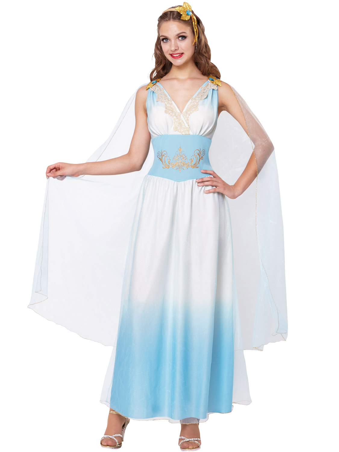 5039cfabaf5 Details about Ladies Roman Empress Costume Greek Woman Goddess Ancient Toga Fancy  Dress Outfit