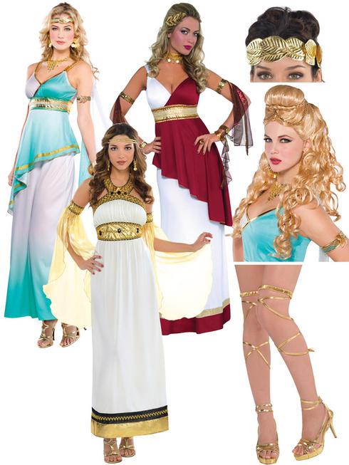 Ladies Imperial Empress Costume, Wig, Headband & Leg Wraps
