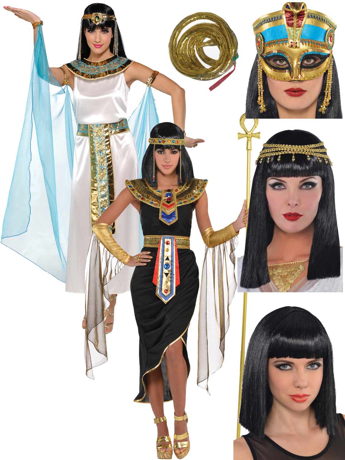 Transform yourself into Queen Cleopatra with either of these fantastic quality costumes - great for historical themed fancy dress events or a gods and ...  sc 1 st  eBay & Adult Cleopatra Costume + Accessories Egyptian Queen Goddess Fancy ...