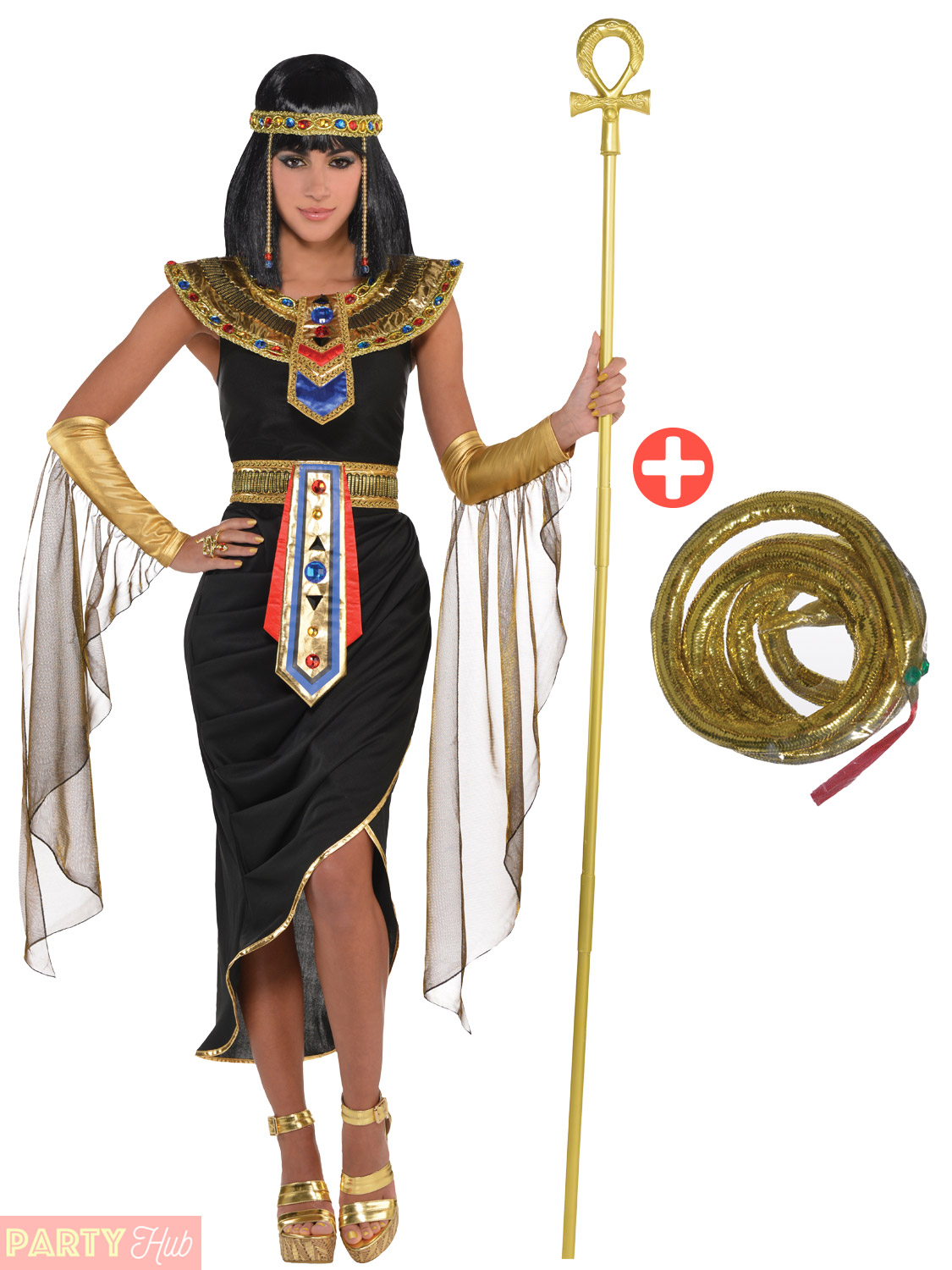 Adult-Cleopatra-Costume-Accessories-Egyptian-Queen-Goddess-Fancy-Dress-Ladies thumbnail 5