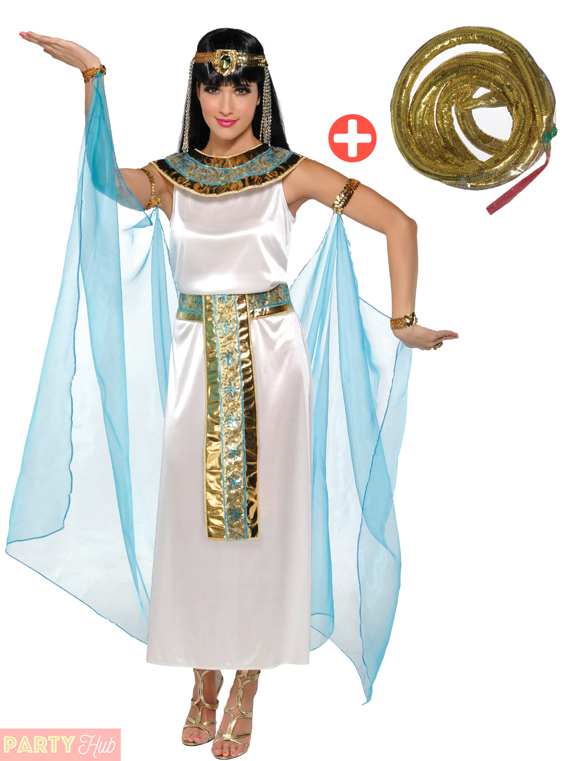 Adult-Cleopatra-Costume-Accessories-Egyptian-Queen-Goddess-Fancy-Dress-Ladies thumbnail 19