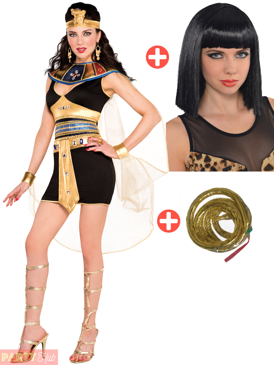 Adult-Cleopatra-Costume-Wig-Egyptian-Queen-Fancy-Dress-Ladies-Womens-Outfit thumbnail 7