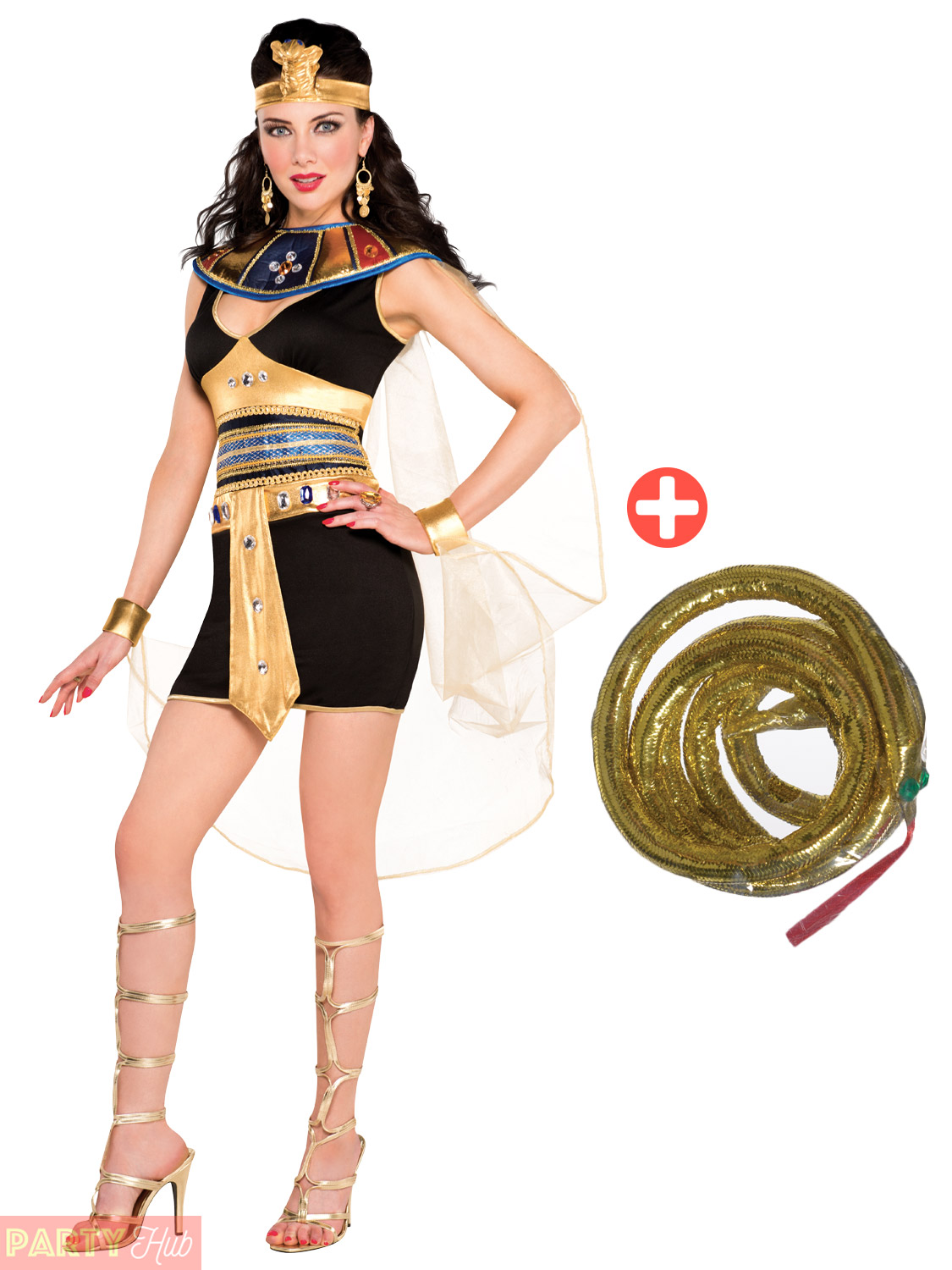 341b6611f1092 Ladies Deluxe Queen Cleopatra Costume Adults Egyptian Fancy Dress ...