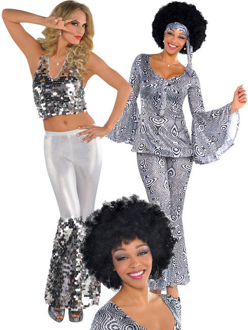 Ladies Dancing Queen Costume & Wig & Wig