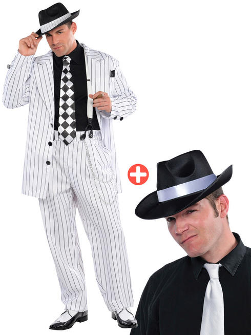 Men's Daddy Gangster Costume & Hat