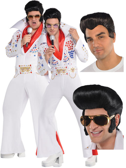 Men's King of Vegas Costume & Wig