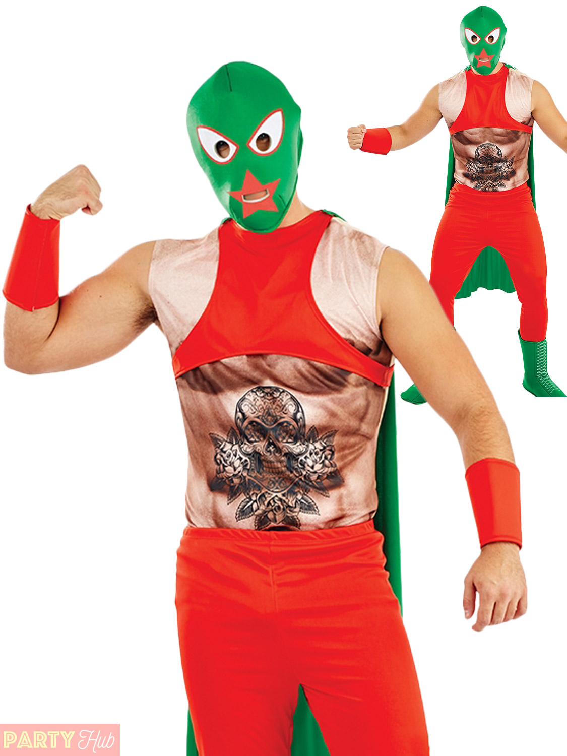 mens mexican wrestler costume adults sports fighter fancy