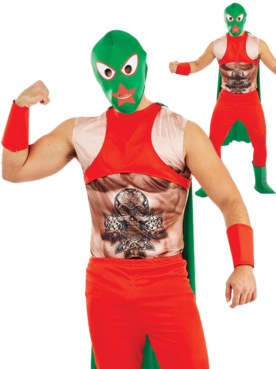 Mens mexican wrestler costume adults sports fighter fancy dress wwe transform yourself into a wrestler with a mexican twist with this mens sports themed costume solutioingenieria