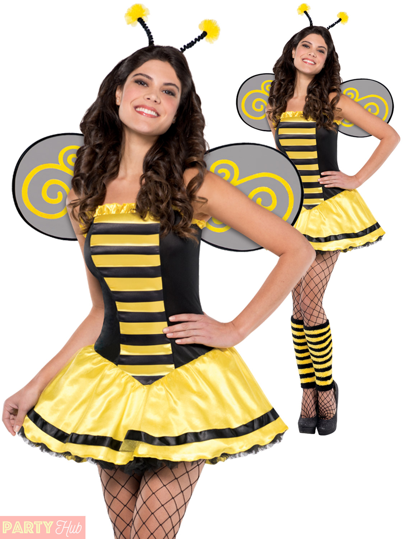 Ladies-Animal-Fancy-Dress-Costume-Adults-Bumble-Bee-  sc 1 st  eBay & Ladies Animal Fancy Dress Costume Adults Bumble Bee Beauty Zebra ...