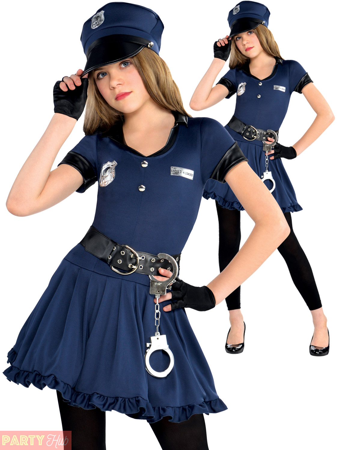c057ec99a7b Amscan International Teens Cop Police Cutie Costume - Girls Fancy Dress  Officer