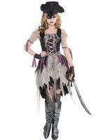 Ladies Haunted Pirate Wench Costume