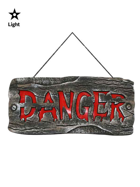Danger Hanging Light Up Sign Prop