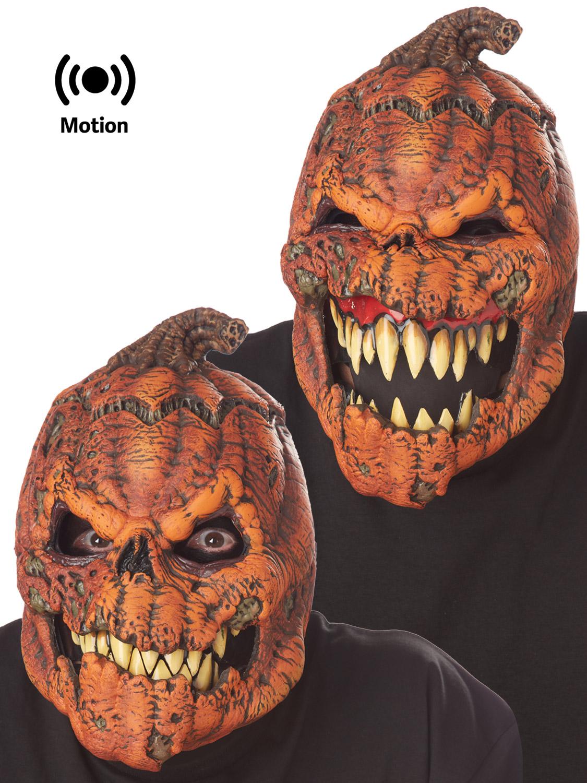 dark harvest scary pumpkin ani-motion halloween mask accessory adult