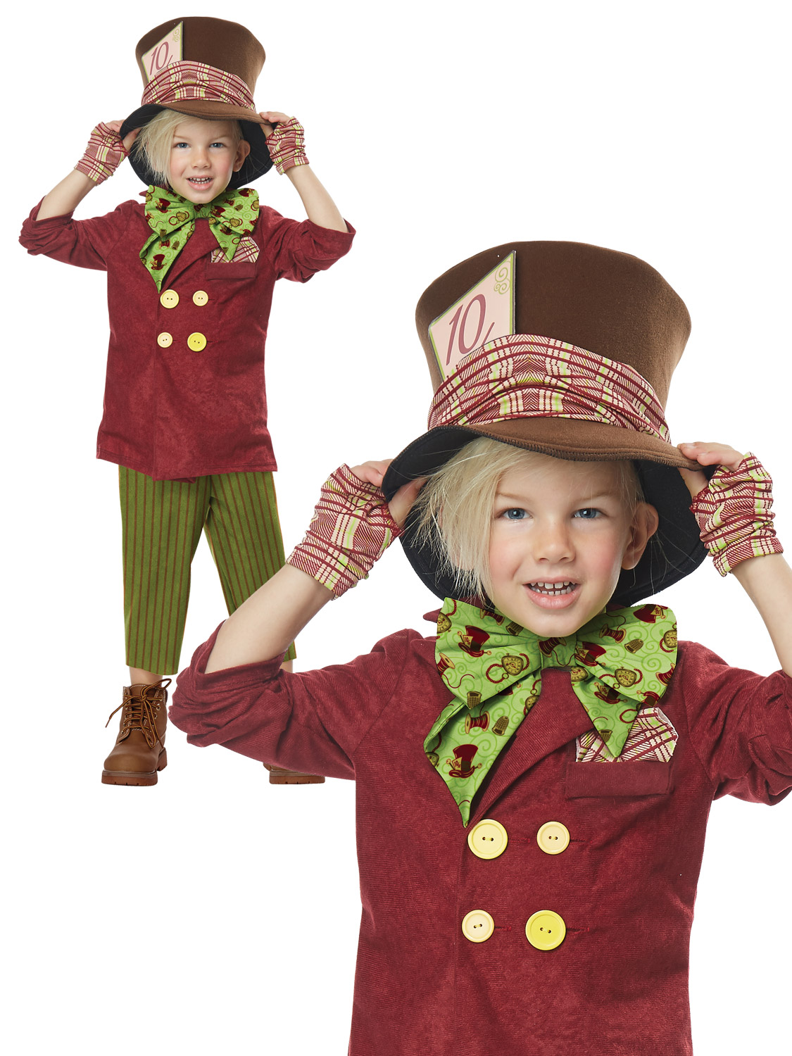Boys-Mad-Hatter-Costume-Tea-Party-Wonderland-Fairytale-  sc 1 st  eBay : child mad hatter costume  - Germanpascual.Com