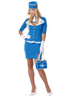 Ladies Retro Stewardess Costume