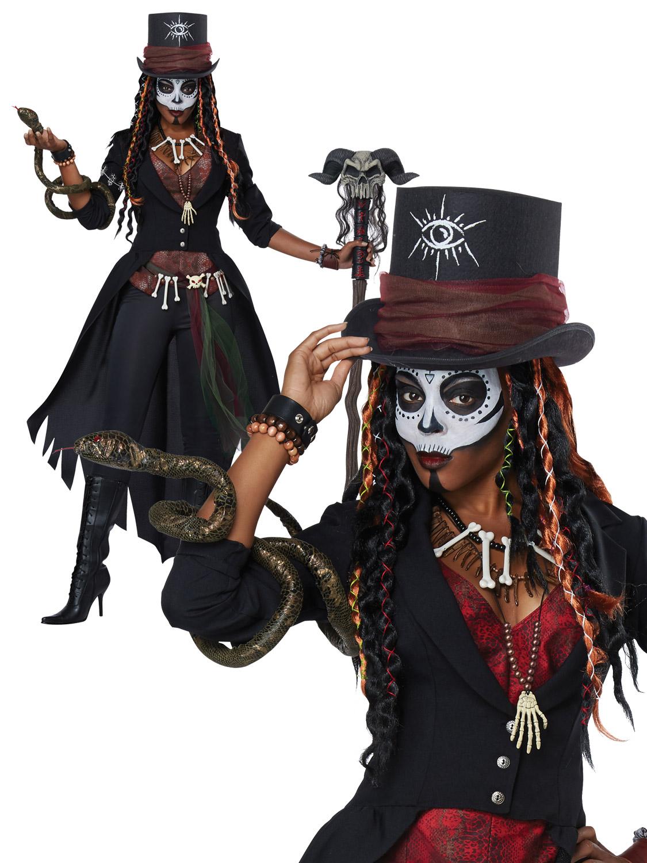 Mens Ladies Voodoo Man Dude Costume Witch Doctor Halloween ...
