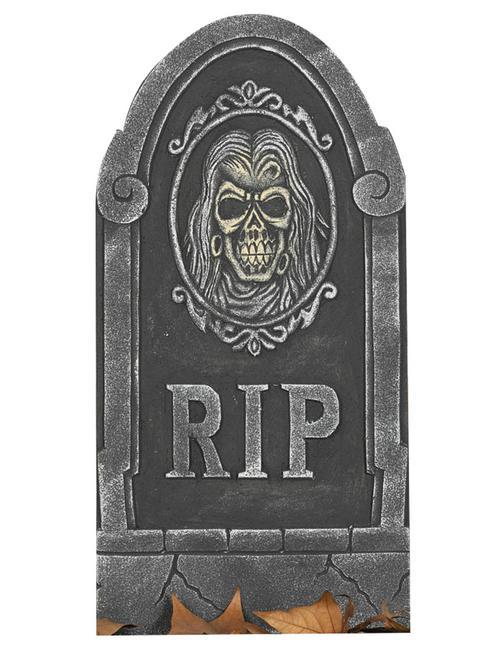 ?Rip? Gravestone Prop with Skull