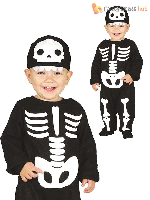 baby toddler halloween costume skeleton vamp devil monster