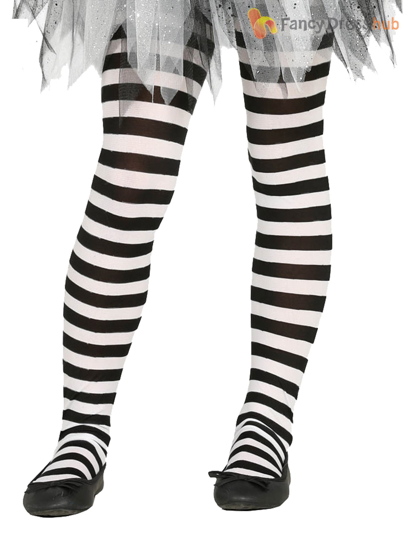 girls striped tights halloween witch pumpkin devil fancy dress
