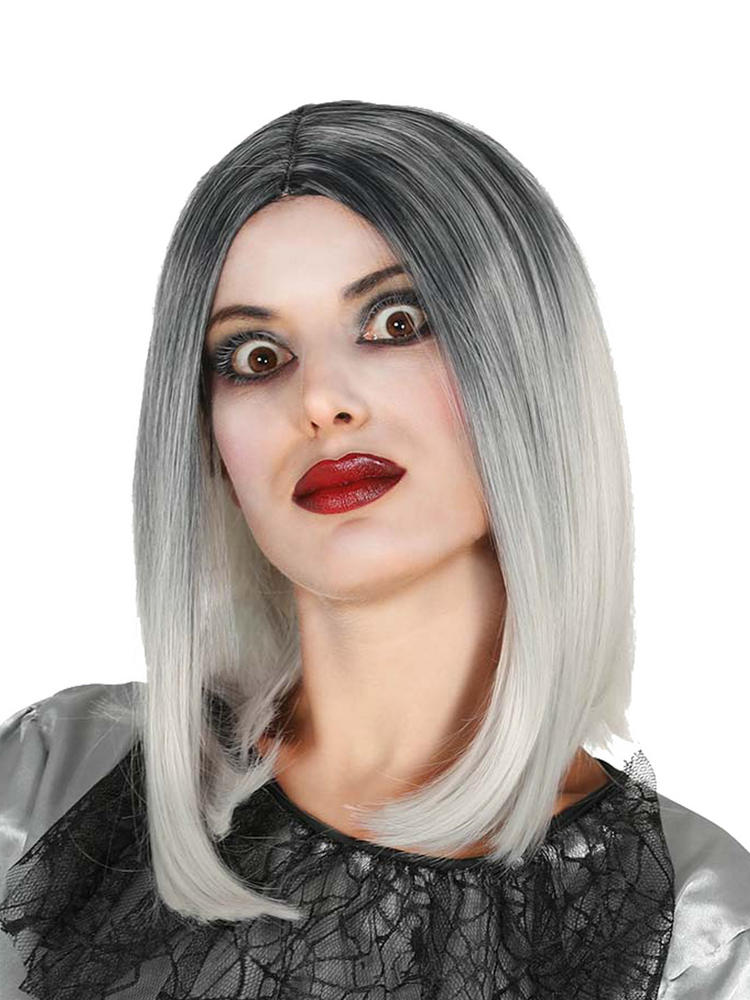 Ladies Black / White Ombre Bob Wig