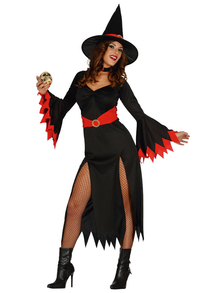 Ladies Red Witch Costume