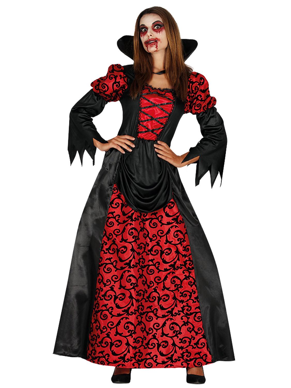 Ladies Vampiress Costume Adult Vampire Countess Halloween ...