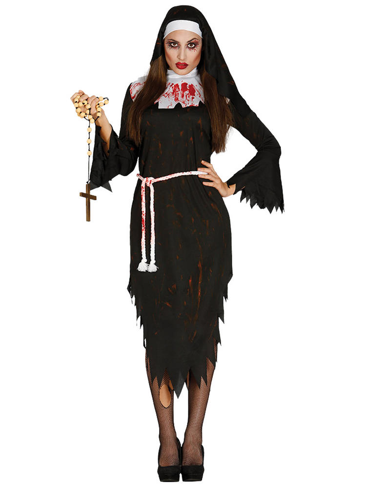 Ladies Zombie Nun Costume