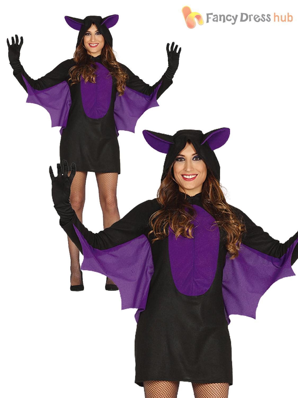 mens ladies bat costume adult halloween vampire couples fancy dress