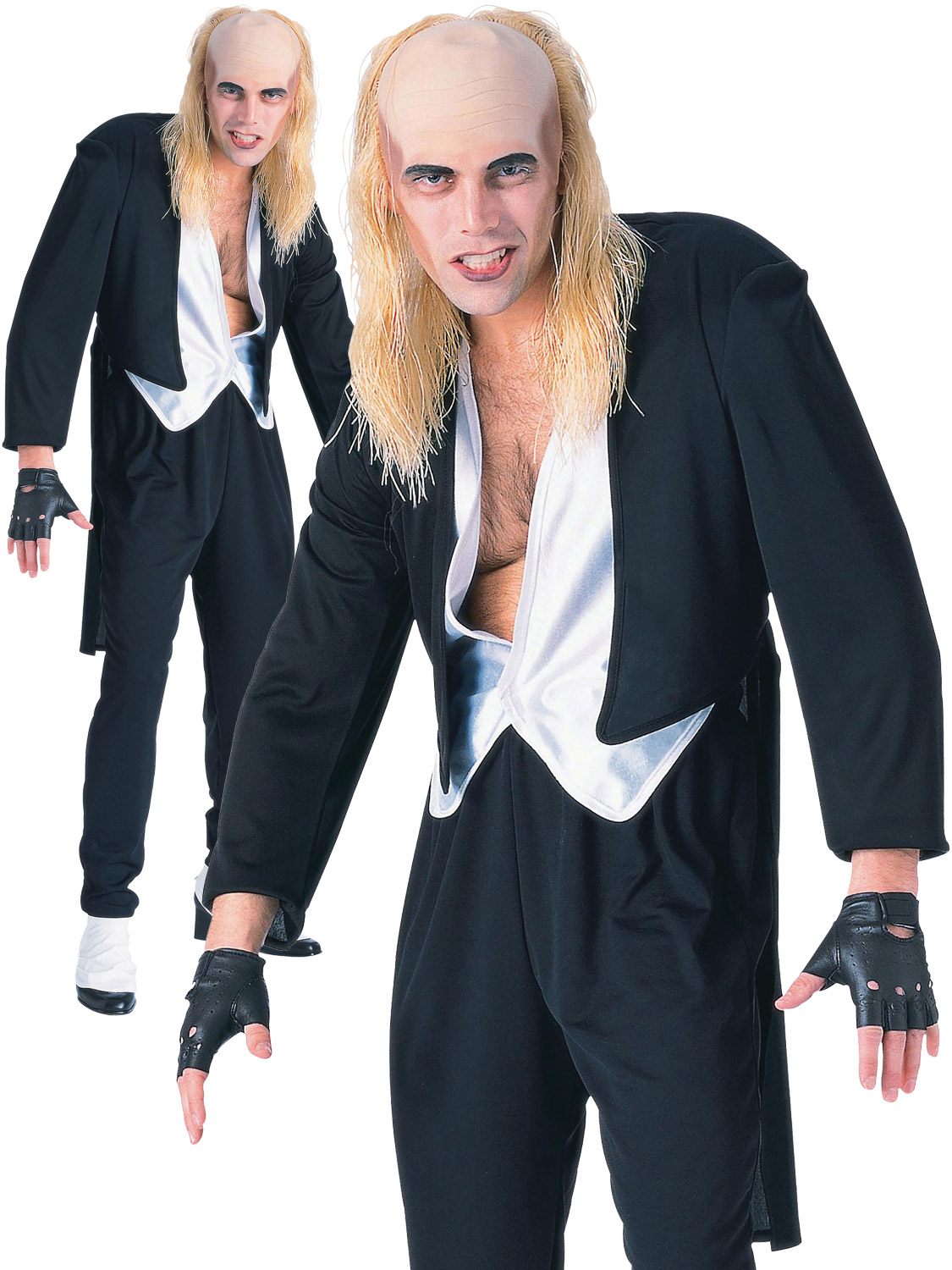 Mens Official Riff Raff Rocky Horror Fancy Dress Costume 80s Musical Outfit New
