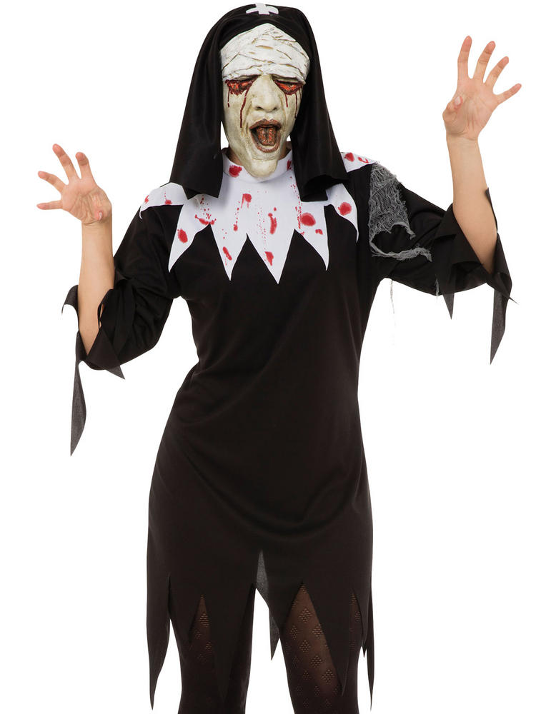 Ladies Zombie Nun Costume
