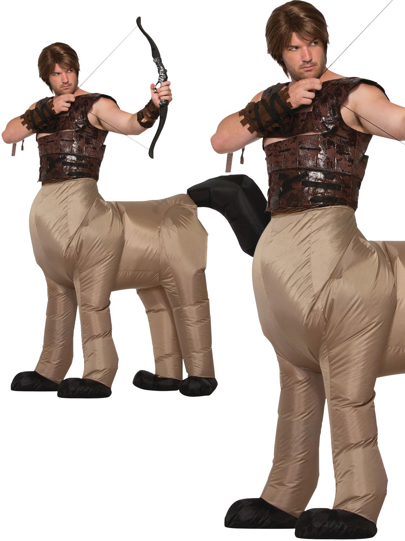 Mens Centaur Inflatable Costume Half Man Horse Greek Mythical Beast Fancy Dress Ebay