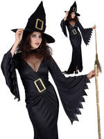 Ladies Black Witch Costume