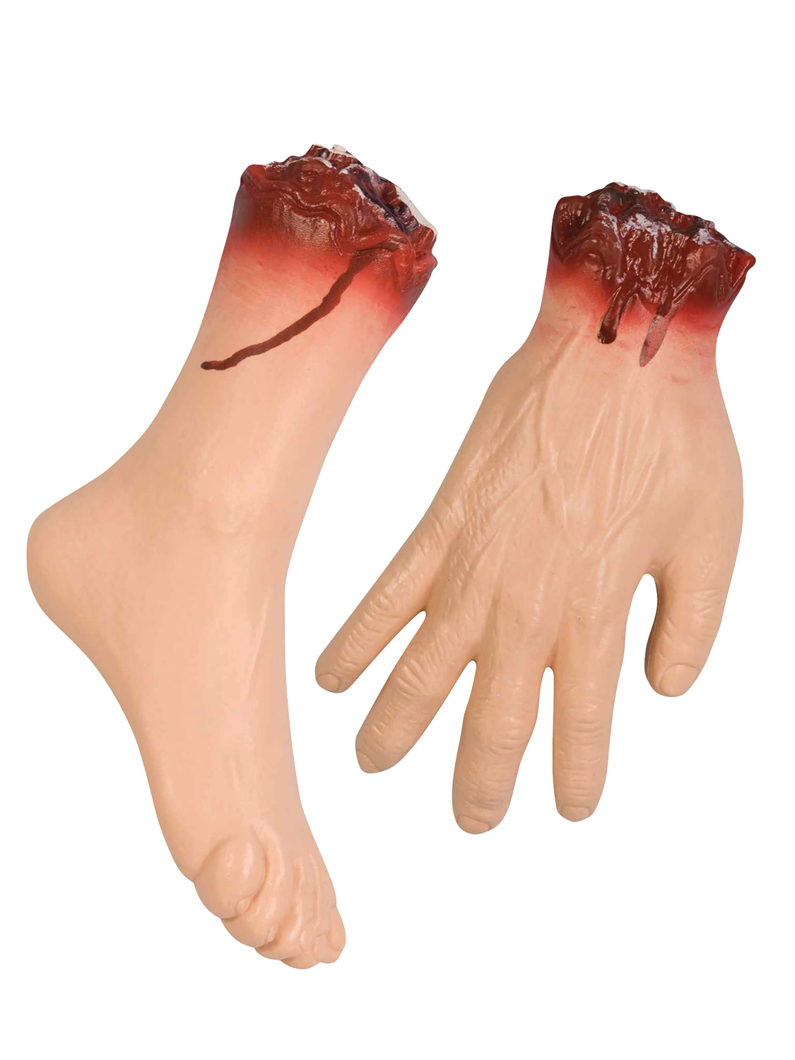 Halloween Cut Off Body Parts Bloody Party Prop Decoration Hand Arm Foot Fingers