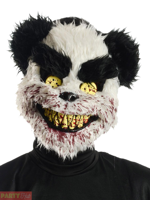 adult killer teddy bear halloween mask mens zombie rabbit fancy