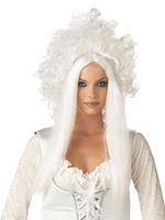 Ladies White Spirit Wig