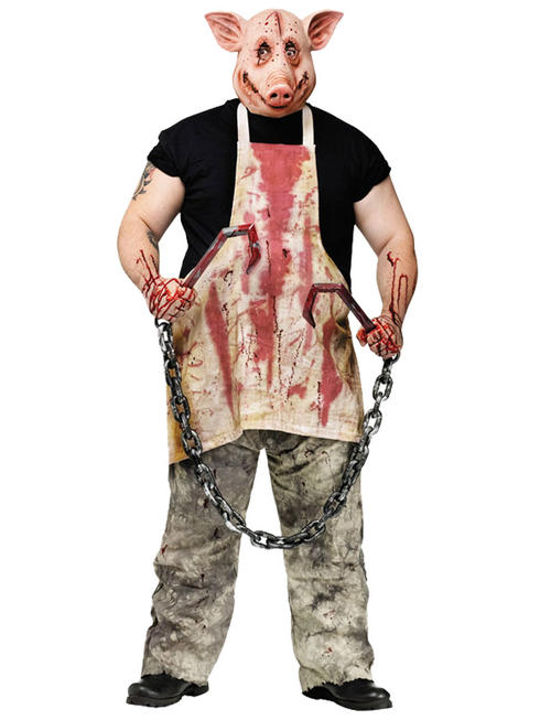 Mens Butcher Pig Costume