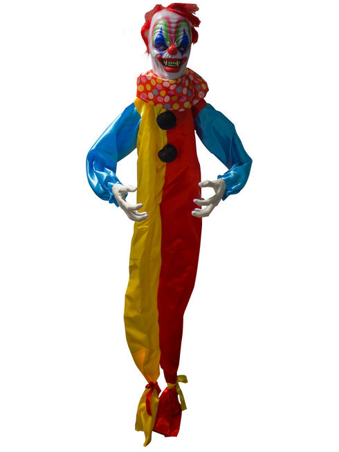 Animated Hanging Clown Prop + Lights Sound Circus Halloween Party Decoration