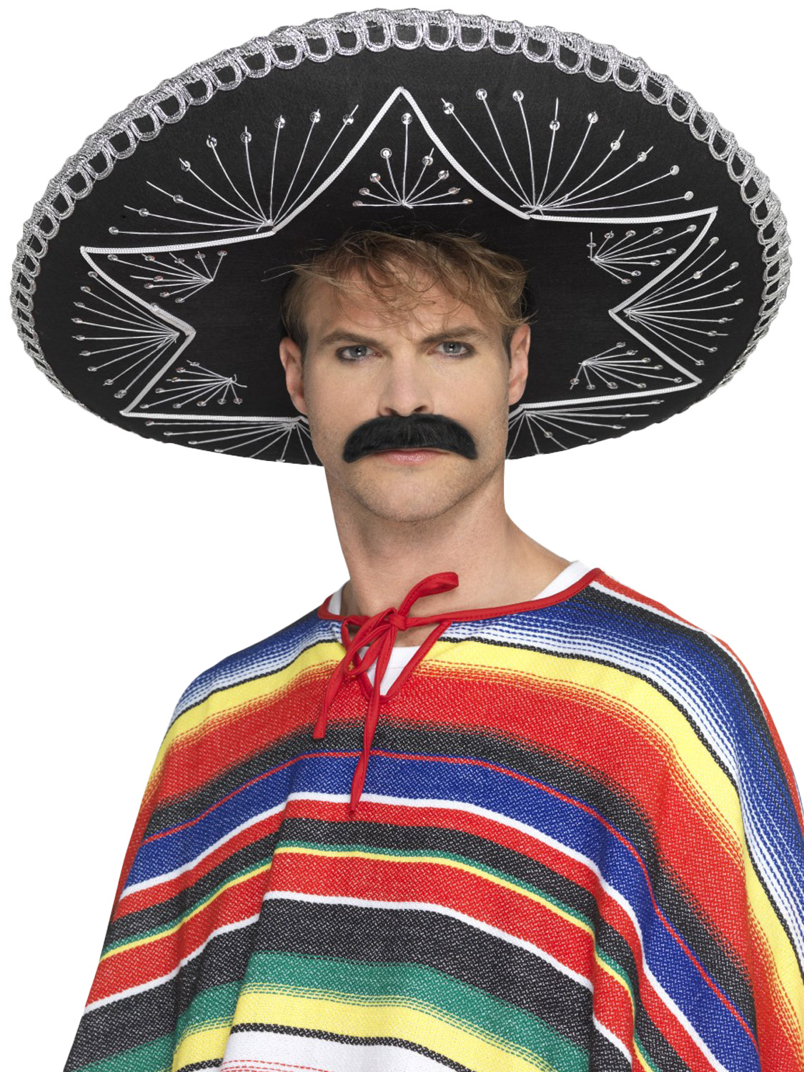 Mens Day Of The Dead Sombrero Accesories Mexican Halloween Fancy Dress