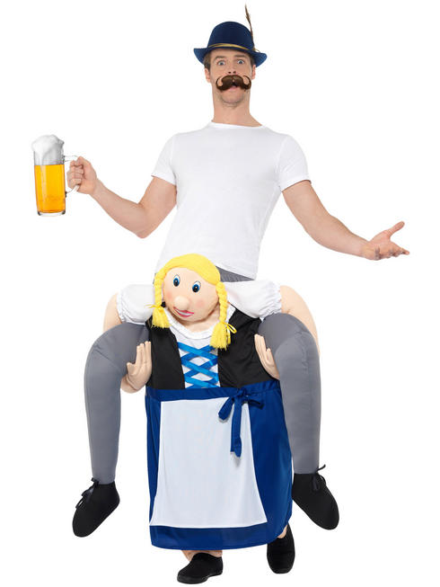 Adult's Beer Maiden Piggyback Costume