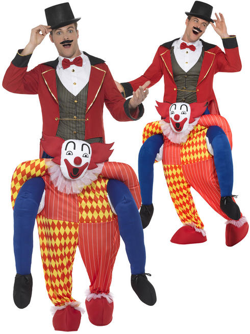 Adult's Clown Piggy Back Costume