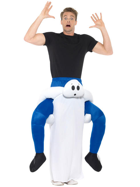 Adult's Ghost Piggy Back Costume