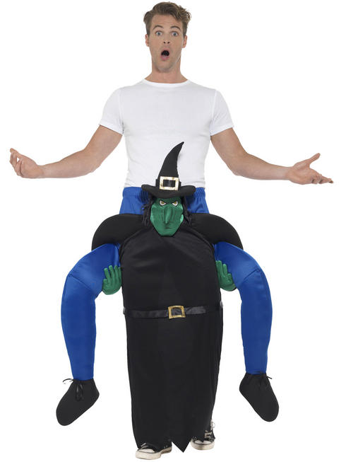 Adult's Witch Piggy Back Costume