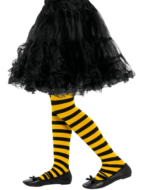 Girl's Bumble Bee Striped Tights