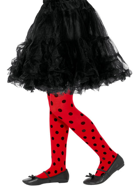 Girl's Ladybird Spotty Tights