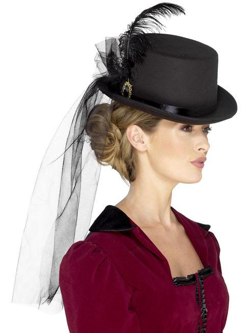 Ladies Deluxe Ladies Victorian Top Hat
