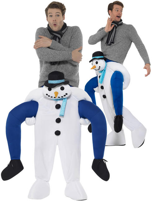 Adult's Snowman Piggy Back Costume