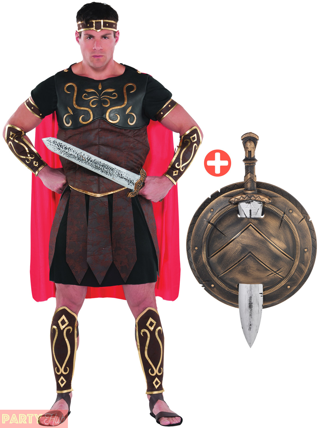 Mens-Roman-Centurion-Costume-Adult-Gladiator-Spartan-Warrior-  sc 1 st  eBay & Mens Roman Centurion Costume Adult Gladiator Spartan Warrior Fancy ...