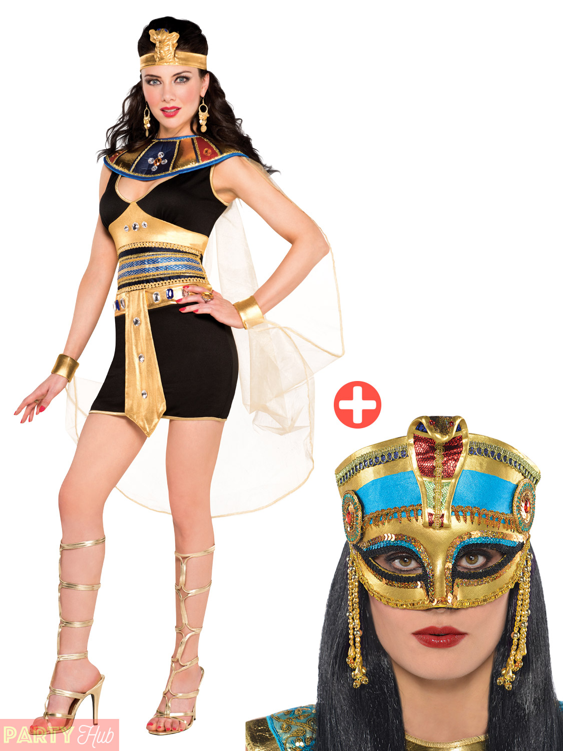 ladies deluxe queen cleopatra costume adults egyptian fancy