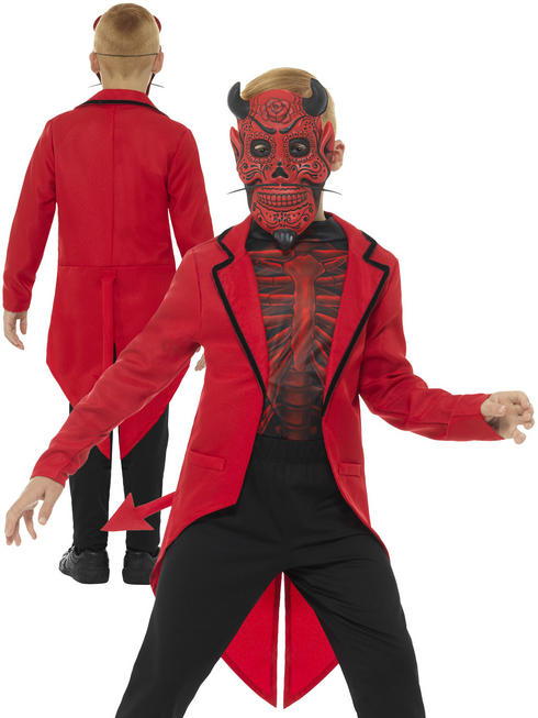 Boy's Deluxe Day of the Dead Devil Costume