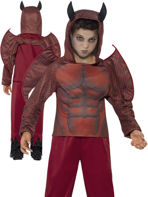 Boy's Deluxe Devil Costume